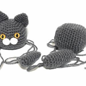 かわいい猫のあみぐるみ、猫の顔を色々な編み方で作ってみた、過去作品のリメイクあり。