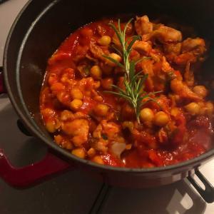 ガルバンゾのトマト煮