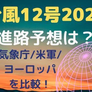 台風12号2020進路予想は?気象庁/米軍/ヨーロッパを比較!