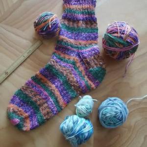靴下編み5足目