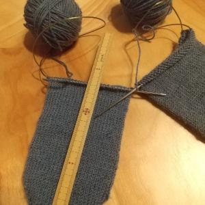 手編み靴下の増し目