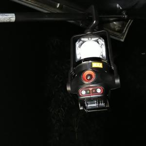 充電式ランプの引っかけ場所を求めて