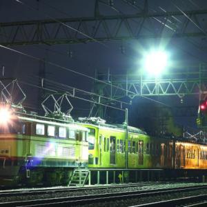 2009/3/7終電後 近江行き新101系の方向転換