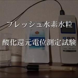 【初心者にオススメ】【フレッシュ水素水粒】 酸化還元電位測定