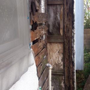 恐怖!築50年の木造住宅をなにも手入れしないと、外壁がこうなります。。。
