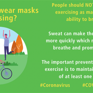 運動中にマスクを着用した方がいいですか?