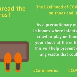 靴を介して新型コロナウイルスに感染することはありますか?