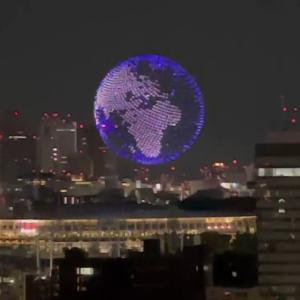 1824台のドローンを使った東京オリンピック開幕式の演出が話題に(海外の反応)