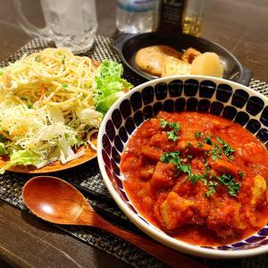 *トマト煮込みの楽チン夜ごはん*
