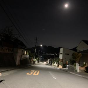 月を見た。