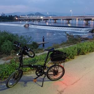 一日一食続きながら、自転車に乗りました。