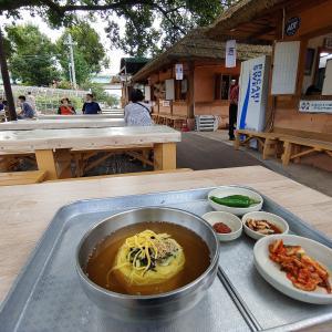 自転車に乗って53キロを走って沙門津(사문진, サムンジン)でチャンチグクス食べて来ました。