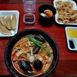 中華料理店の海鮮チャンポンを食べました。
