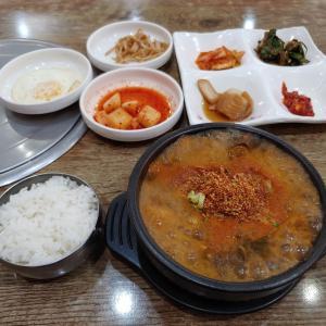 今年の「いきなり旅行」⑮。酔い覚ましスープ、ソンジクッパを食べに行きました。