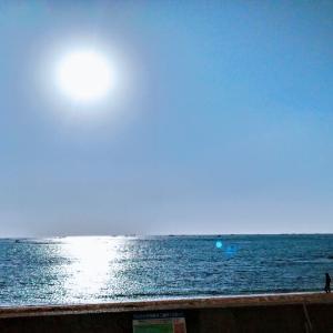 海と学校と茶色の口