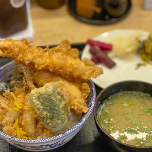 大森の行列店『天冨久』でボリューム満点の江戸前天丼のランチ