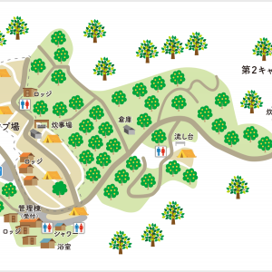【キャンプ場レポ】オレンジ村オートキャンプ場(2/3)サイト選び編