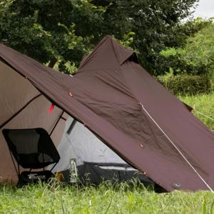 フィールドアから二股ポールのフラップ付きティピー型テント「フォークテント 280 プラス」登場
