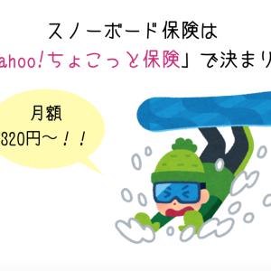 スノーボード保険は月額320円から「Yahoo!ちょこっと保険」で決まり!