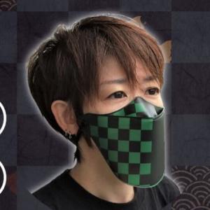 鬼滅の刃?柔らかいフェイスシールドプリントマスク【京都しぃるどマスク】