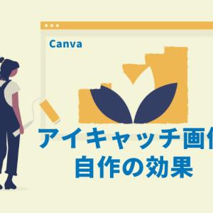 ブログでアイキャッチ画像を自作する効果【Canva使用】