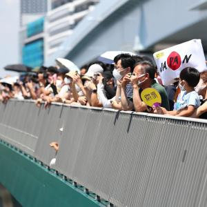 【無観客】BMX会場が見渡せる「希望の架け橋」に数百人が集まってるらしい