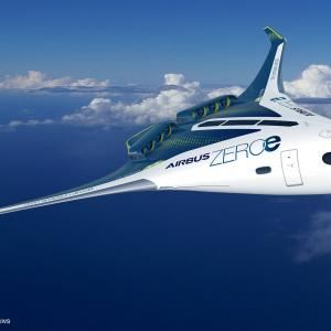 エアバスが水素エンジン航空機を開発中