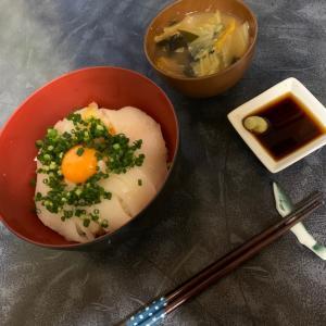 男の手料理 アオリイカ イカソーメン丼定食