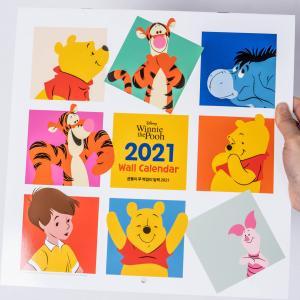 ディズニーくまのプーさん 壁掛け カレンダー2021 ★海外正規品★