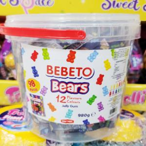 BEBETO ベア グミ 12種類の味 98個入り 980g