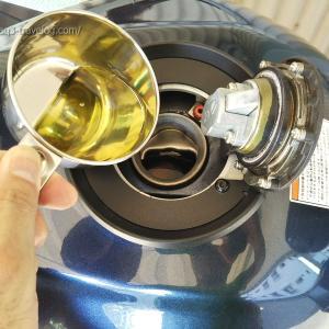 燃料洗浄剤F-ZEROをバンディット1250Sに注入!【2回目】