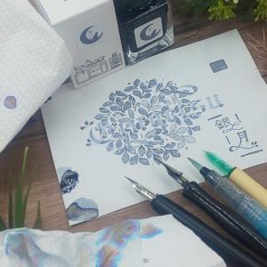 【helico&Tono&Lims】「銀月(ぎんつき)」ラメインクの色見本