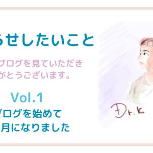 「お知らせしたいこと」Vol.1(ブログを始めて2ヶ月が経ちました)