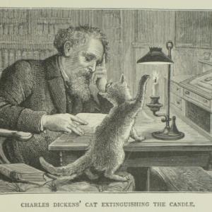猫好きの方へ。 本当に猫の手を借りた愛猫家ディケンズ。
