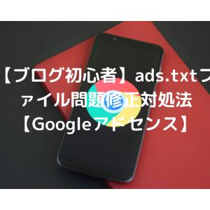 【ブログ初心者】ads.txtファイル問題修正対処法【Googleアドセンス】