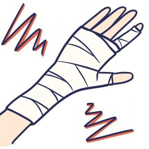 橈骨遠位端骨折日記② ギプスからシーネへ、回復遅れと不自由な思い