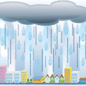 夏の夕立は、雨季のスコールのように、ゲリラ豪雨化する?