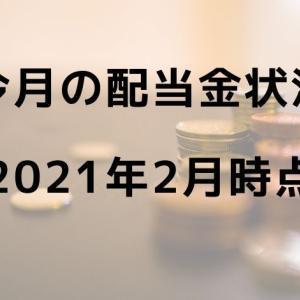 今月の配当金状況 【2021年2月時点】