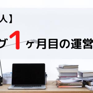 【ド素人】ブログ1ヶ月目の運営報告 収益・PV