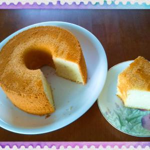 オリーブオイルでシフォンケーキを作ってみたら