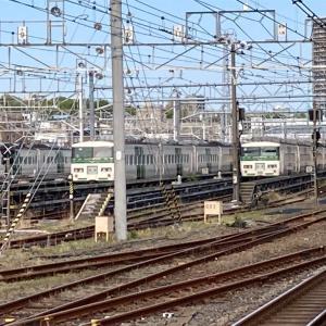 尾久駅と都電荒川線、荒川下流へ(21年4月)