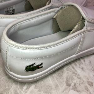 【LACOSTE】数百円で購入できた ラコステの白スニーカー