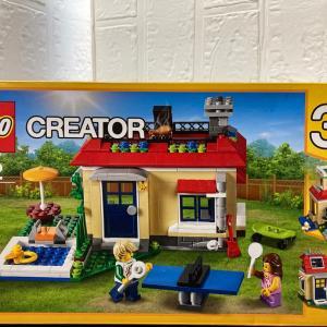 レゴ(LEGO)クリエイター プールサイドの休日 31067を作ってみました その3