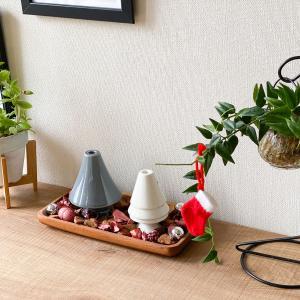 園芸作業テーブル周りをクリスマス仕様にディスプレイチェンジ【インテリア】
