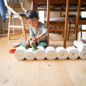 【Z会幼児年少】ぺあぜっと10月号トイレットペーパーで遊ぼう