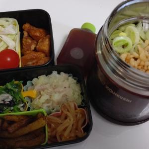 雑談:本日の麺弁当♡朝からじゃがいも料理2品作りました