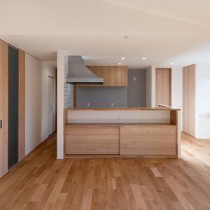 キッチン:夢のアイランドキッチンはいかに?排気ダクト問題?壁が必要とは?