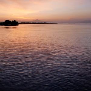 琵琶湖からの朝の景色が綺麗だった