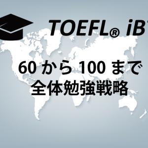 【TOEFL iBT 大きく失敗しないための全体勉強法】スコア100までご案内