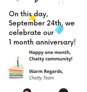 Chatty Canadians/1ヵ月記念